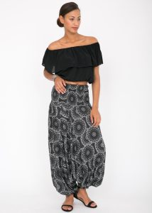 2 in 1 Harem Trousers and Bandeau Jumpsuit Mandala Print