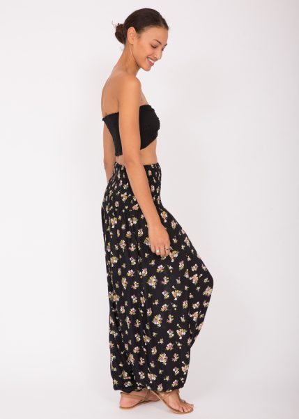 2 in 1 Printed Harem Trouser and Bandeau Jumpsuit Pretty Florals
