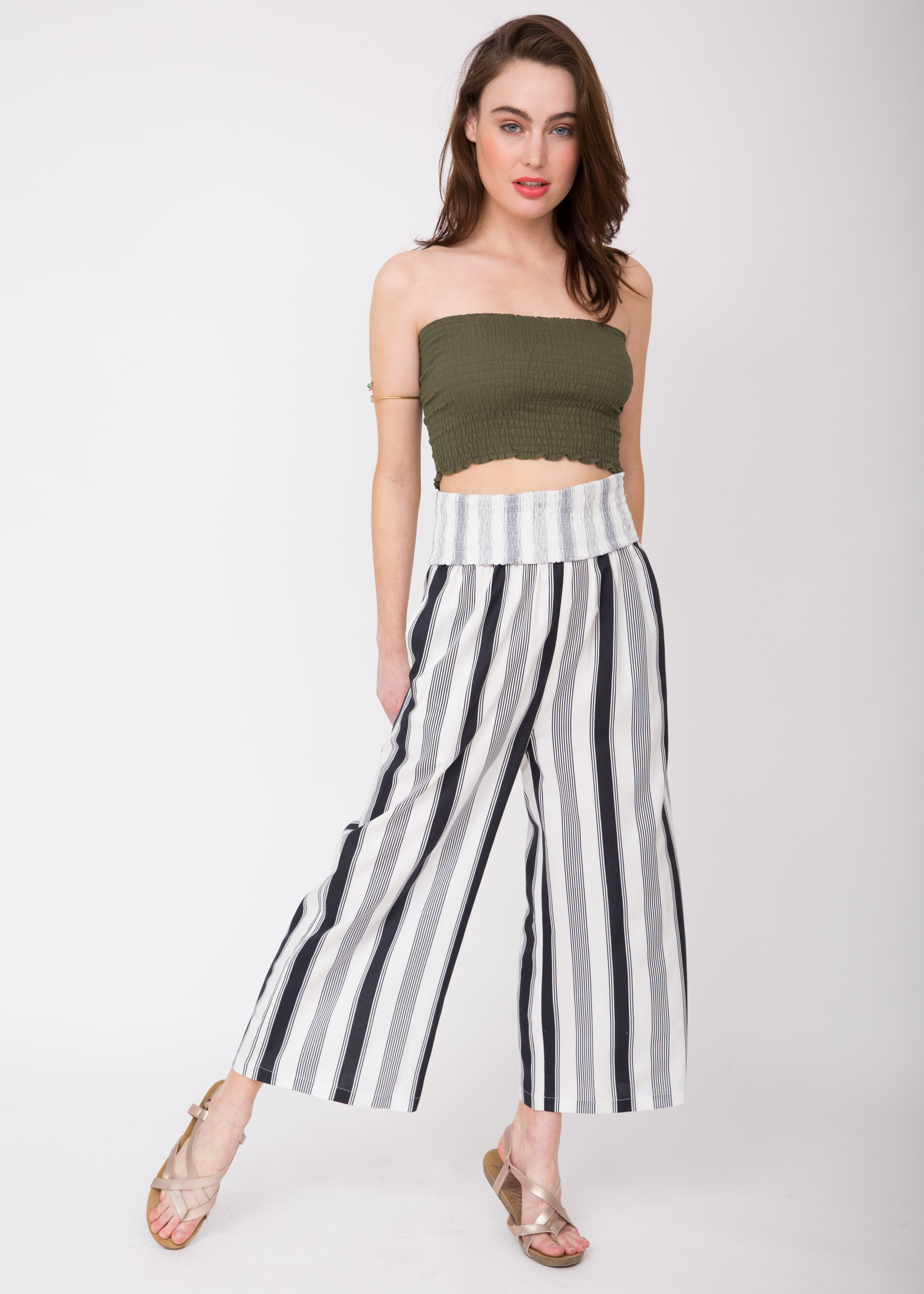 697d2e861cae 2 in 1 Wide Leg Culotte Jumpsuit and Trousers Stripes – likemary