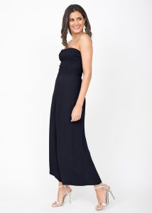 Bandeau Jumpsuit Tie Back Navy Blue