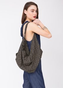 Cotton Cloth Eco 2 in 1 Shoulder Bag & Rucksack Bikes Print