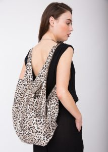 Cotton Cloth Eco 2 in 1 Shoulder Bag & Rucksack Leopard Print