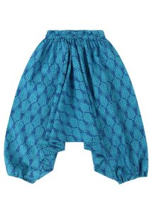 Cotton Harem Pants Aqua Turquoise