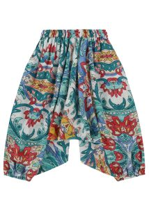 Cotton Harem Pants Festival Print