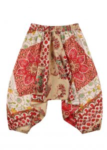 Cotton Harem Pants Pretty Florals Print