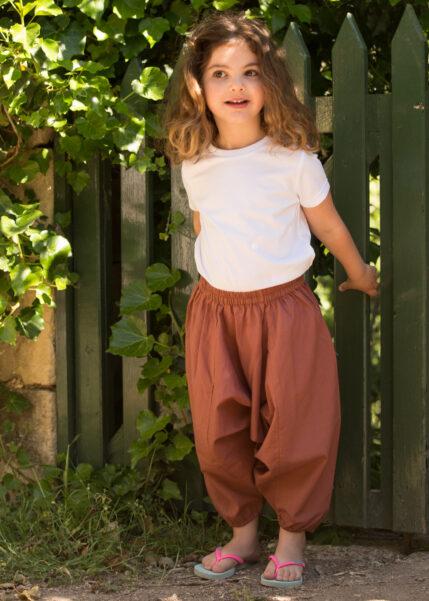 Cotton Harem Pants Vieux Rose