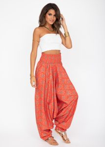 Cotton Printed 2 in 1 Maxi Harem Trouser & Bandeau Jumpsuit Angoor Print