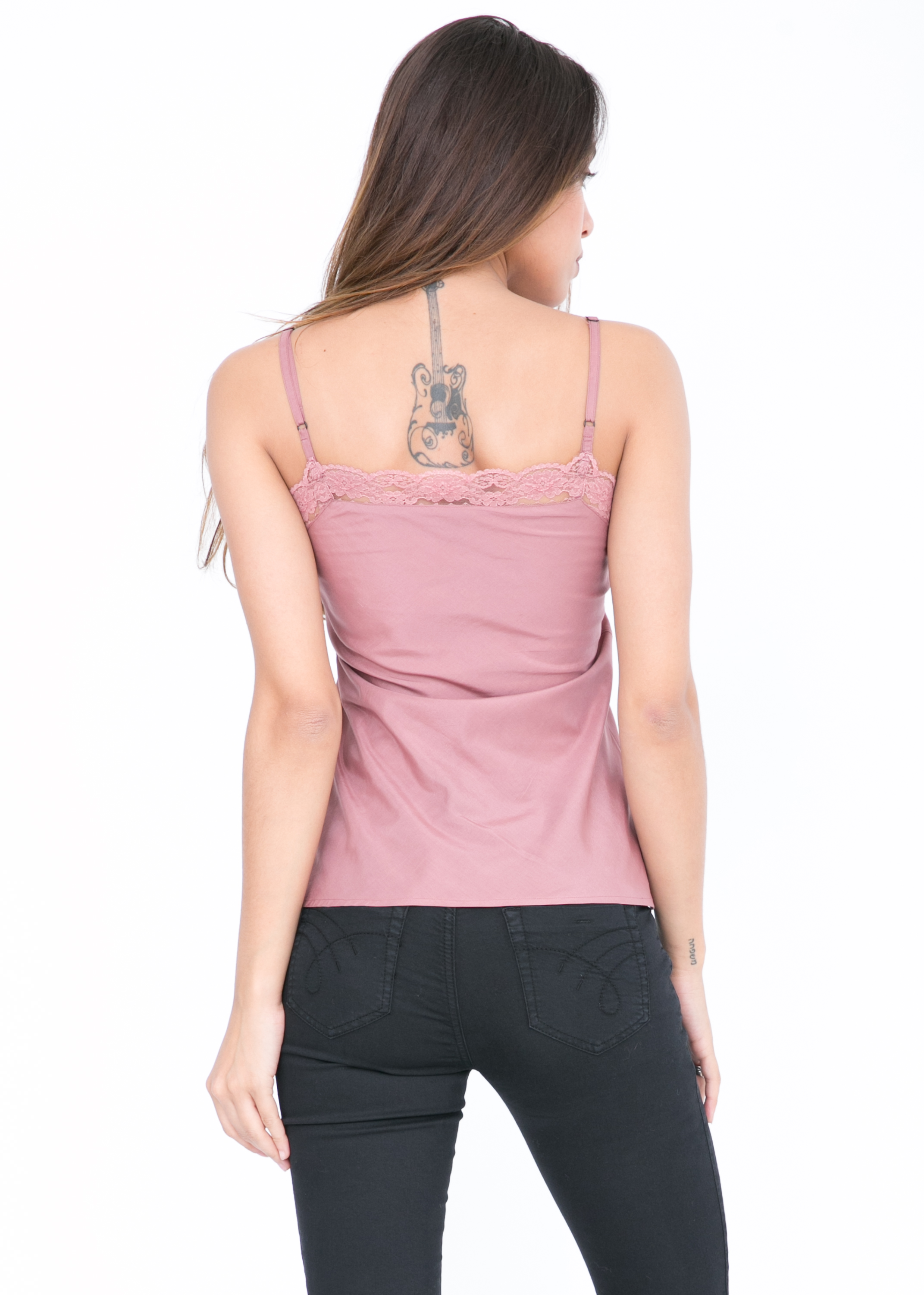 0a844073aa70bd Cotton Silk Lace Camisole Cami Pink – likemary