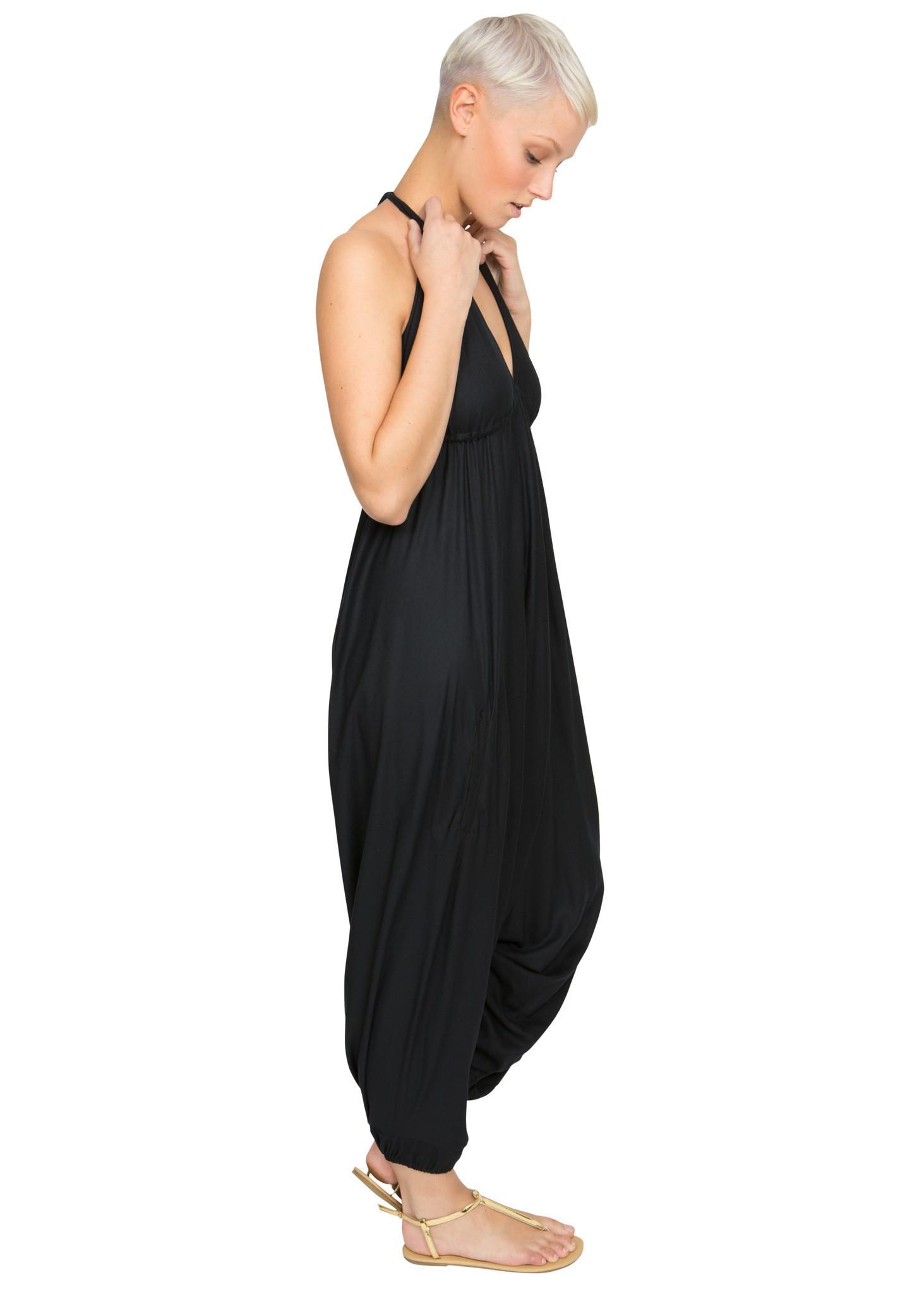 81af924ad0 Halter Harem Jumpsuit Black – likemary