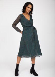 Ditsy Floral Midi Wrap Dress