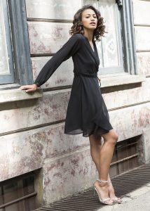 Double Layer Wrap Dress