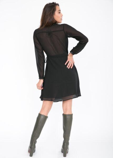 Double Layer Wrap Dress