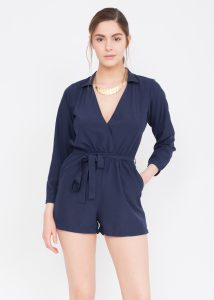 Ella Blue Shirt Playsuit