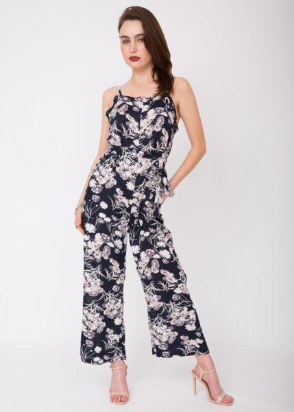evie floral ruffle jumpsuit