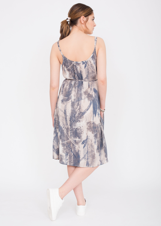 Floaty Feather Print Strappy Dress Likemary