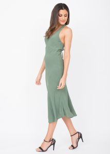 Halter Midi Dress Verona Green