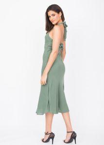 Halter Midi Dress Verona Green