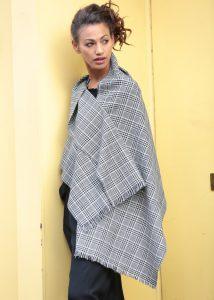 Handwoven Merino Pashmina and Oversize Checks Scarf
