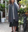 Handwoven Pashmina & Blanket Scarf with Crosses 100 X 200cm Grey