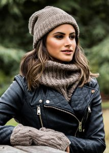 Infinity Snood Scarf Merino Wool Mocha Brown