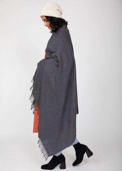 Kasa Merino Handwoven Pashmina and Oversize Scarf 100 X 200cm Charcoal