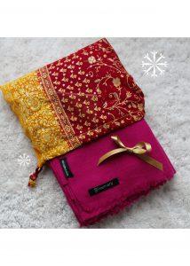 Kasa Merino Handwoven Pashmina & Blanket Scarf 100 X 200cm Fuchsia