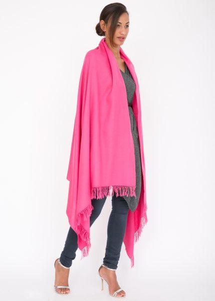 Kasa Merino Handwoven Pashmina & Blanket Scarf 100 X 200cm Pink