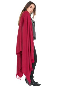 Kasa Merino Handwoven Pashmina & Blanket Scarf 100 X 215cm Burgundy