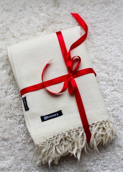 Kasa Merino Wool Pashmina & Oversize Scarf 100 X 200cm Cream