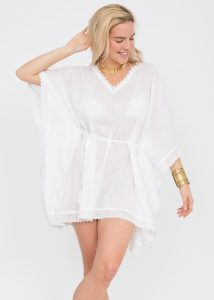 Lace Border Cotton Voille Kaftan