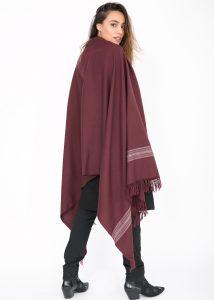 Mansi Merino Handwoven Shawl & Oversize Scarf Raisin