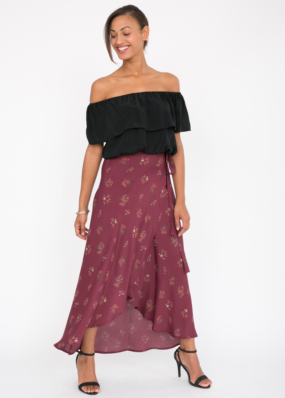 7623b054e87a12 Maxi Floral Print Wrap Skirt – likemary