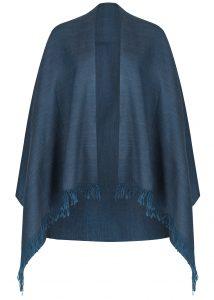 Mens Merino Wool Heritage Herringbone Scarf Teal 200 X 75cm