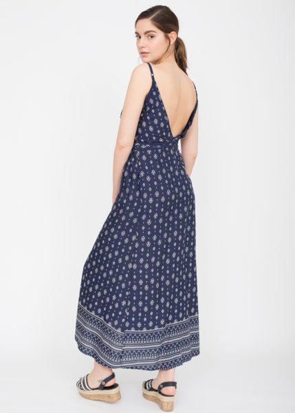Mira Open Back Maxi Wrap Dress