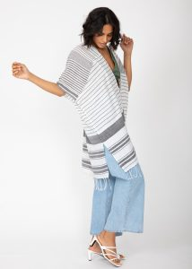Nautical Stripes Woven Kaftan