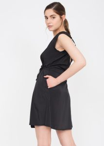Open Back Lara Wrap Dress Black