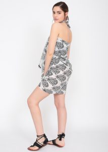 Paisley Block Print White Cotton Sarong