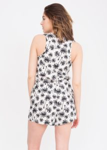 Palm Trees Print Playsuit