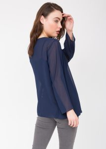 Sheer Georgette Coverup Cardigan Blue