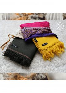 Shoreditch Merino Wool Shawl & Oversize Scarf Khaki 200 X 100cm