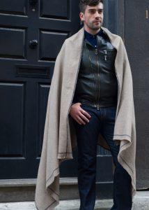Shoreditch Merino Wool Shawl & Oversize Scarf Truffle 100 x 215cm