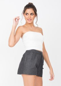 Summer Denim Beach Shorts Grey