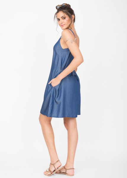Summer Denim Slip Dress