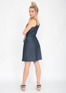 Summer Denim Strappy Wrap Dress