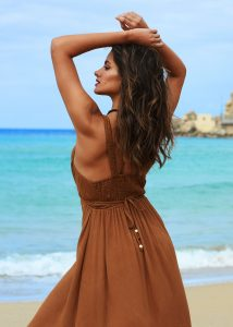 Summer Maxi Dress Caramel
