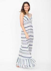 Summer Maxi Dress Riviera Stripes