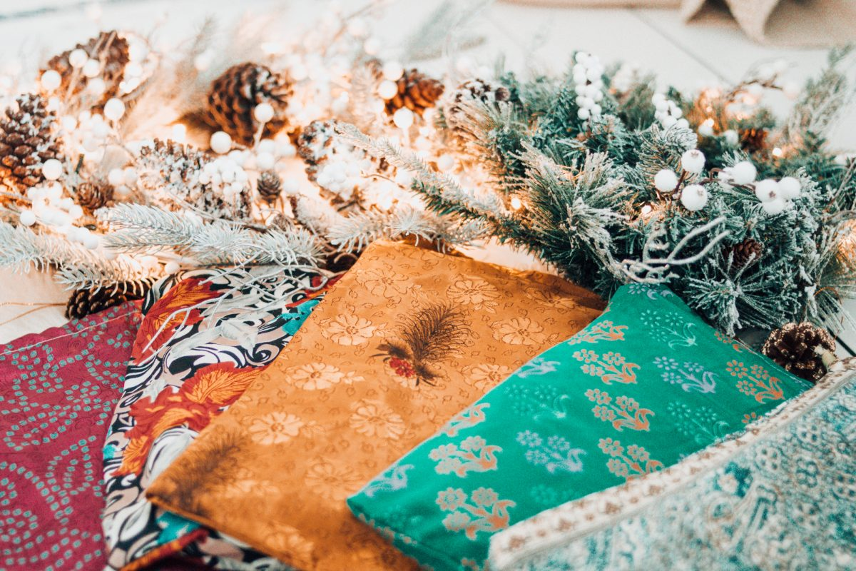 Sustainable, eco-friendly holiday gift wrapping has never been so beautiful!