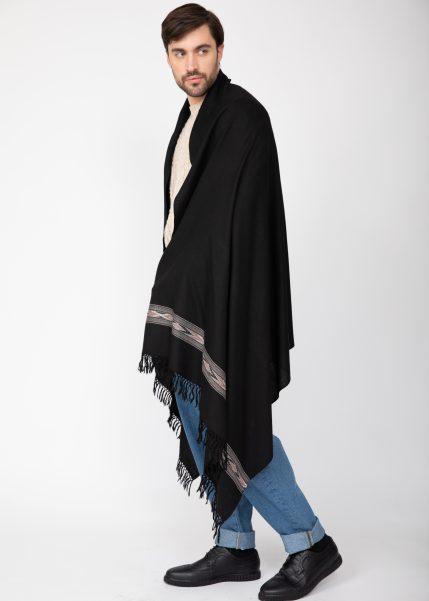 Takhi Merino Handwoven Oversize Scarf Black 100 X 200cm