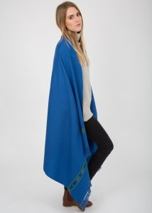 Takhi Merino Handwoven Shawl and Oversize Scarf Cobalt 100 X 200cm