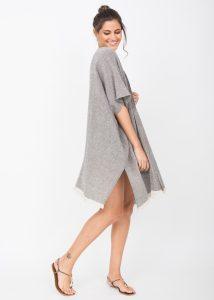 Textured Cotton Kimono Kaftan